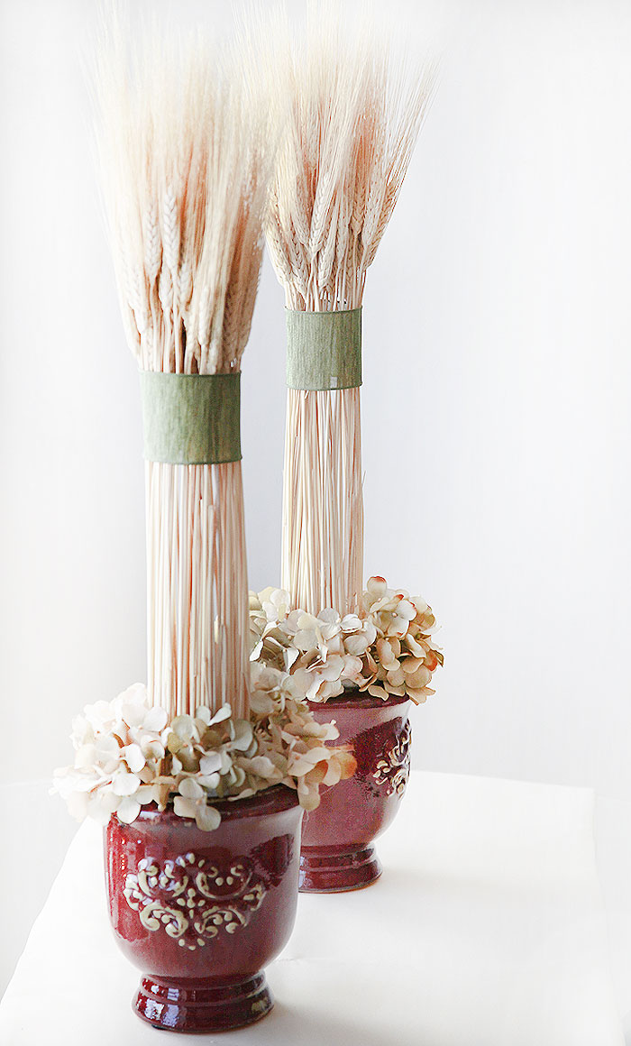 Partytipz entertaining with style and ease for Wheat centerpieces