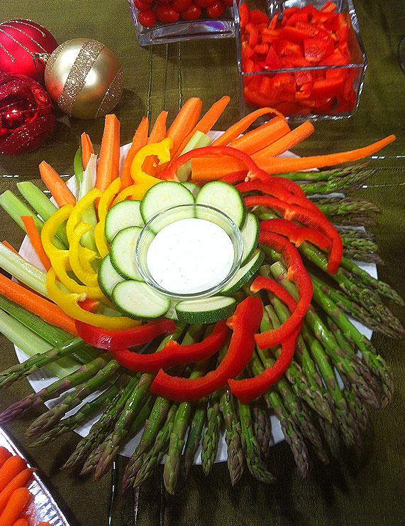 asparagusandvegetablewreath