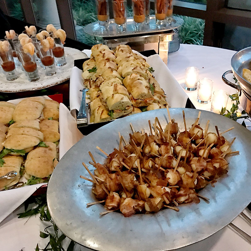 wedding, weddings, st. louis botanical gardens, hot d'oeuvres, appetizers, wedding buffet